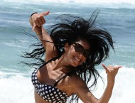 Nicole Scherzinger – On the beach