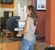 Minka Kelly goes to Starbucks in Beverly Hills- July 27th, 2012