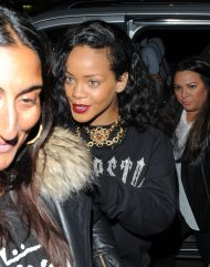 Rihanna – Leaving Nozomi Restaurant in London – August 30,2012