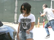 Vanessa Hudgens – out and about gas station candids in LA – September 22,2011