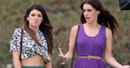 Shenae Grimes and Jessica Lowndes – Filming 90210 in LA – August 4, 2012