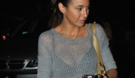 Emmanuelle Chriqui – Outside Pink Taco in Hollywood – September 11, 2012